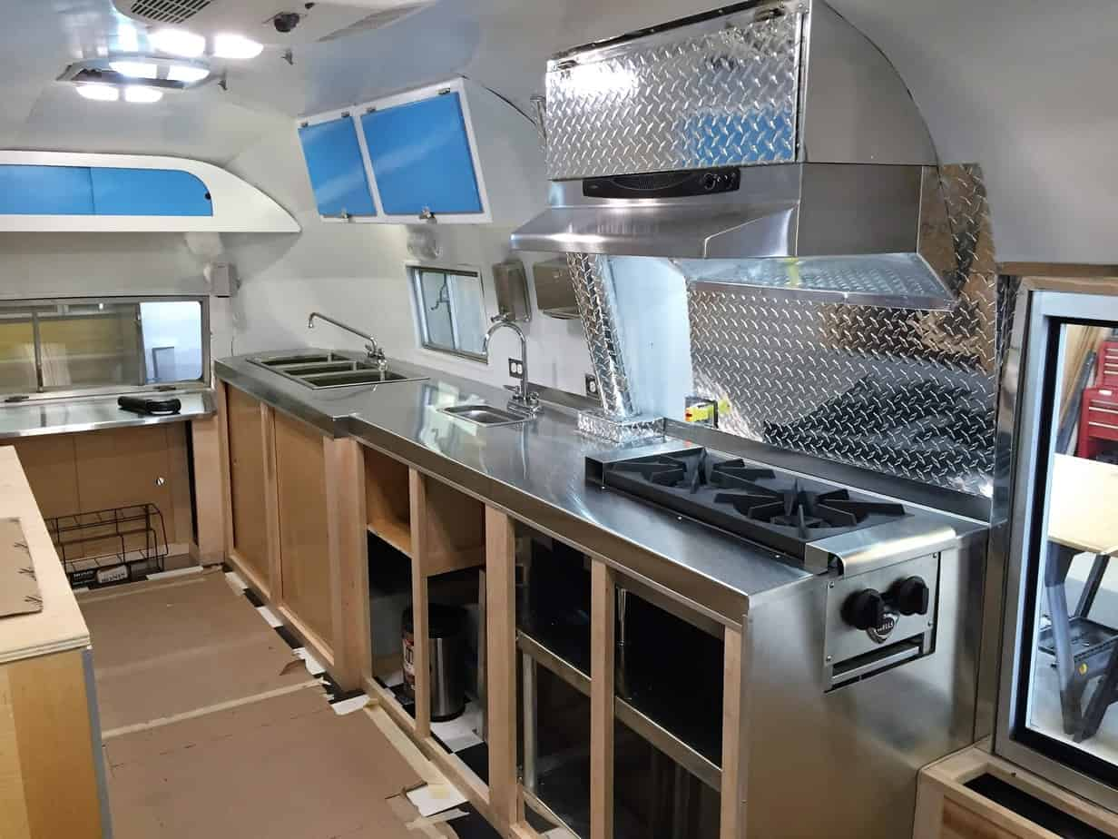 Vintage Trailer Restoration in Montana. We completely upgraded the inside with a custom aluminum platting