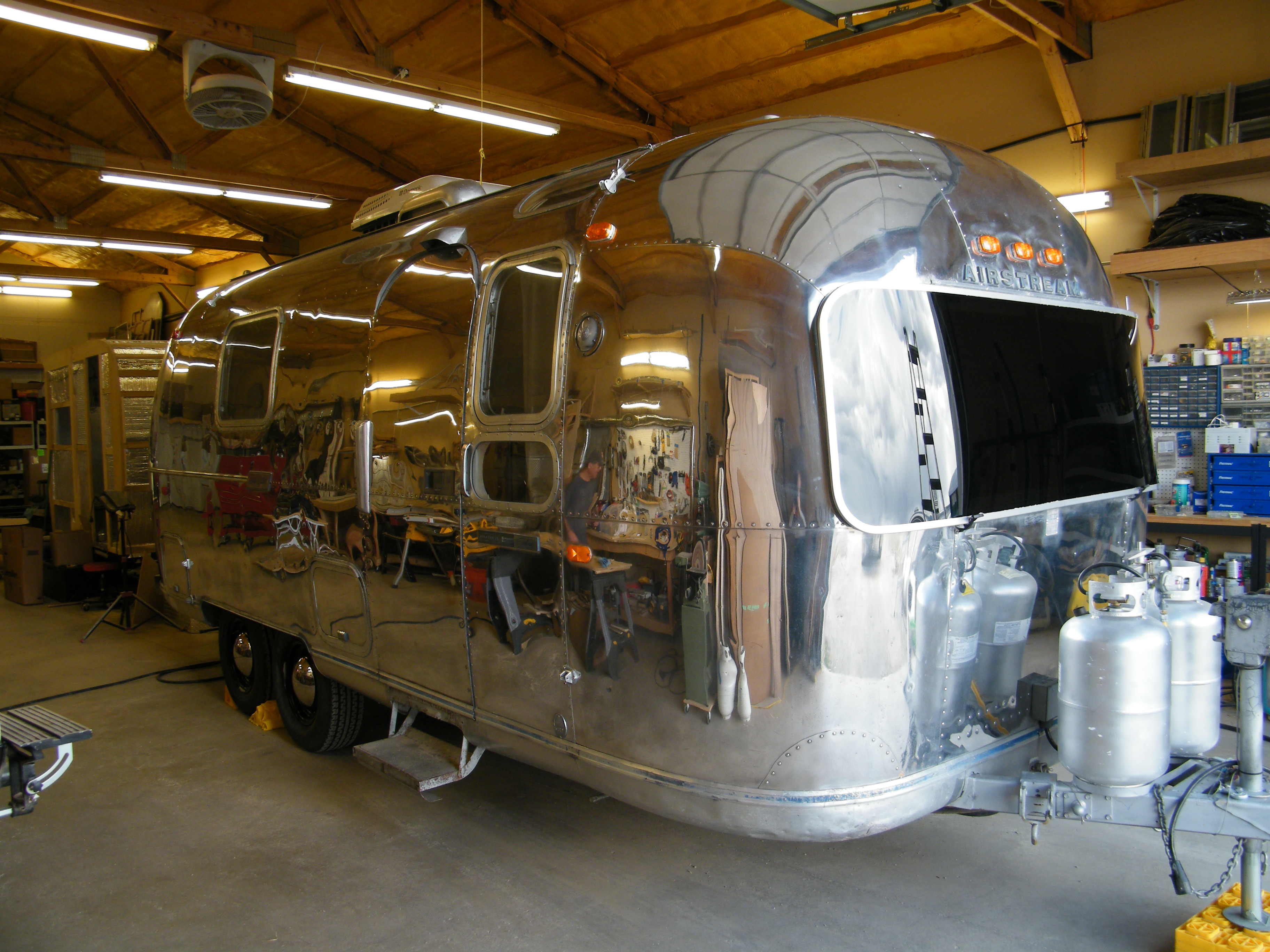 Airstream From the Front View after we've completed our vintage trailer restoration